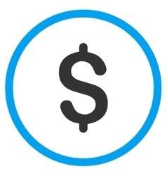 Dollar Flat Icon vector image