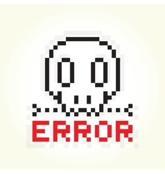 Error message skull vector image