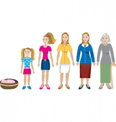 female age progress vector image