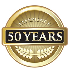 Fifty years experience gold vector