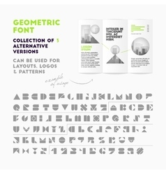 Geometric font collection vector