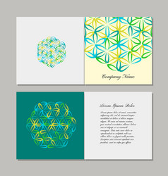 Greeting cards design flower of life vector