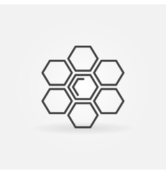 Honeycomb linear icon vector image vector image