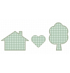 House heart and nature cute baby style vector