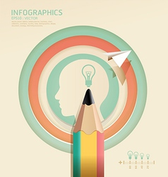 infographics Creative pencil Template concept vector image