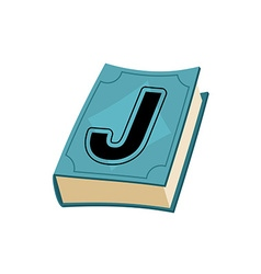 Letter J on cover of retro books Concept of vector image vector image
