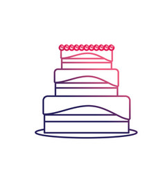 line delicious cake to celebrate special day vector image vector image