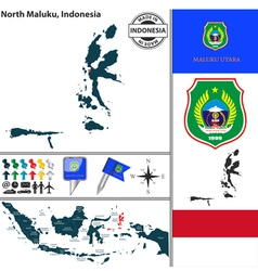 Map of north maluku vector