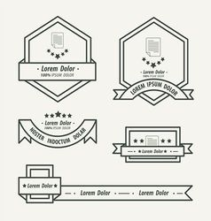 Paper label and ribbon template vector