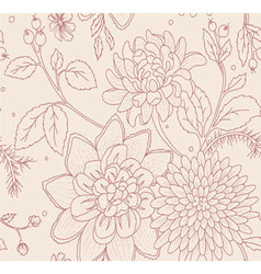 pattern flowers seamless vector image