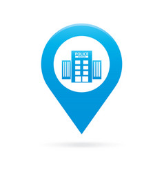 Police station map pointer icon marker gps vector