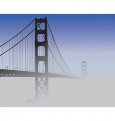 San francisco golden gate bridge vector