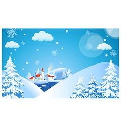 Ski Resort Background vector image vector image
