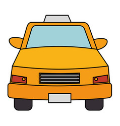 Taxi front service icon vector