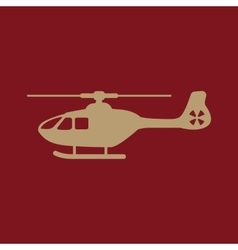 The helicopter icon copter symbol flat vector