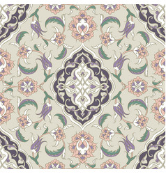 turkish iznik tile design vector image vector image