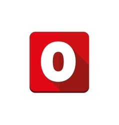 Number zero button vector image