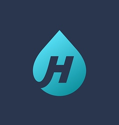 Letter h water drop logo icon design template vector
