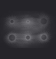 set of light rays sunburst vector image