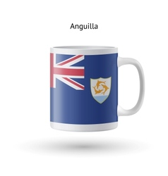 Anguilla flag souvenir mug on white background vector