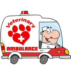 Cartoon vet vector