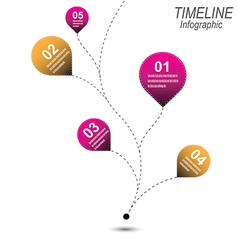Timeline infographic element design vector