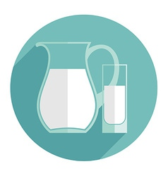 Modern flat design of milk vector