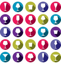 Drinking glasses collection vector