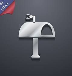 Mailbox icon symbol 3d style trendy modern design vector