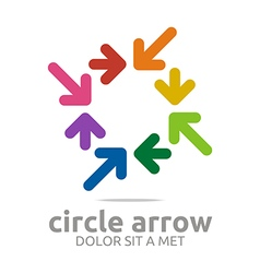 Logo circle arrow colorful design symbol icon vector