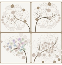 Artistic trees vector