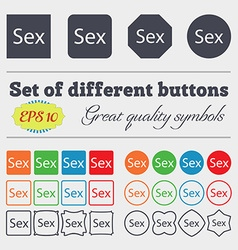 Safe love sign icon safe sex symbol big set of vector