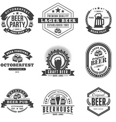Set of retro vintage beer badges labels logos vector