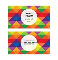 Business card with multicolor background vector