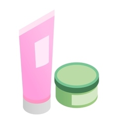 Cosmetics 3d isometric icon vector