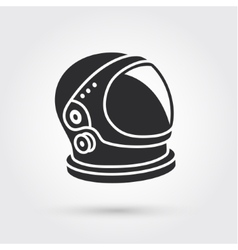 Astronaut helmet with big glass and reflection vector