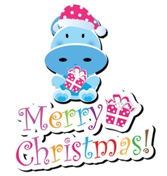 christmas childrens card vector image