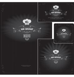 design elements for style restaurant vector image