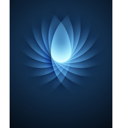 Blue smooth lines background vector