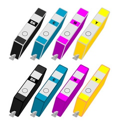 Ink cartridges vector