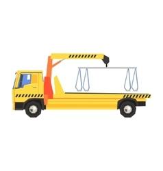 Empty yellow big evacuation truck vector