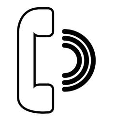 Phone speaker isolated icon design vector