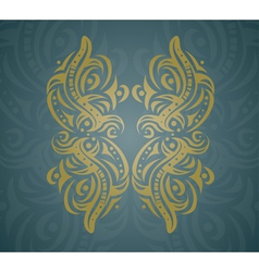 Abstract golden shape vector image vector image