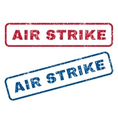 Air strike rubber stamps vector