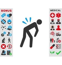 Backache icon vector