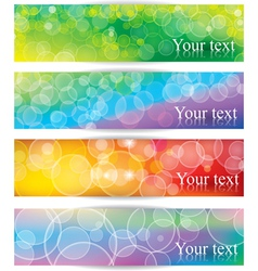 Banners with light bokeh vector image
