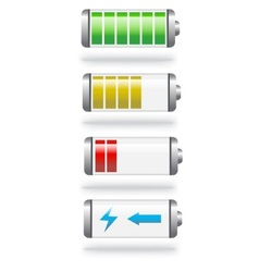 battery level and charge vector image vector image