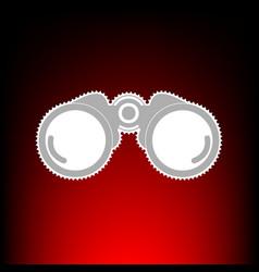 binocular sign postage stamp or old vector image vector image