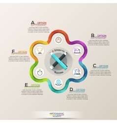 Business infographic with icons vector