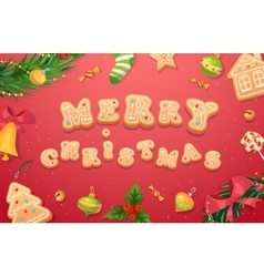 Christmas gingerbread cookies and sweets vector